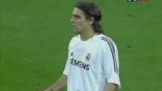 Woodgate Sent Off, Roberto Carlos Caresses Ref's Face