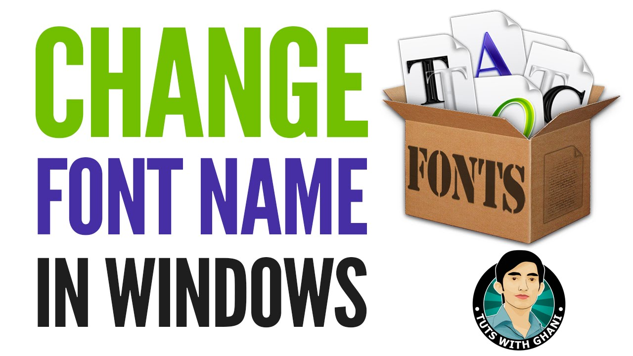 How to Rename Font (OTF, TTF) Font Family in Windows/Mac
