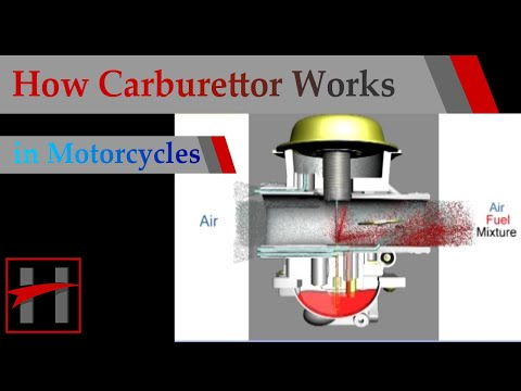 How Carburettor Works ( 3D Animation) In Suzuki GS150R Motorcycle
