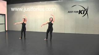 """Advanced Jazz Combo to """"Only Girl"""" Tutorial and Demonstration from Just For Kix"""