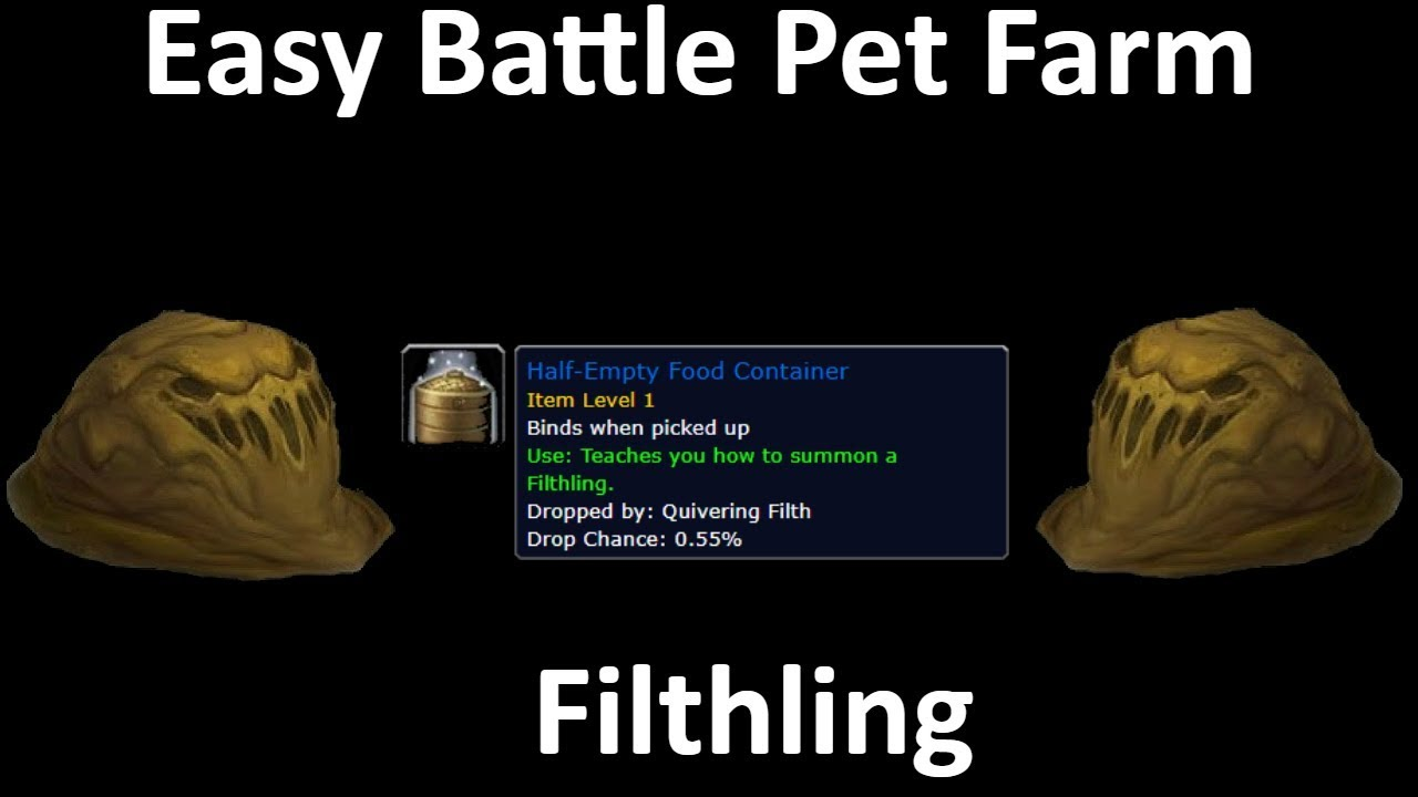 Wow Gold Farm Easy Battle Pet Farm Filthling Youtube