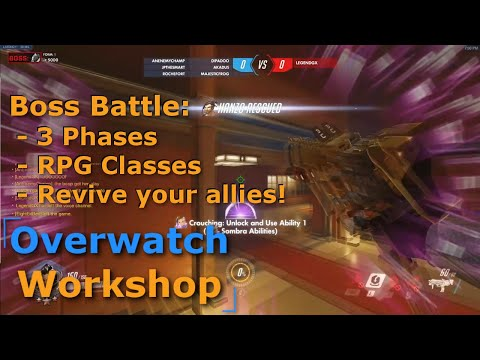 Overwatch - Boss Battle?! Multiple Forms & Phases With RPG Classes