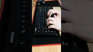 키보드 타건 영상 : 삼성 SKG-2000PB 맴브레인