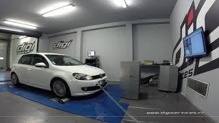 VW Golf 6 2.0 TDI 140cv  Reprogrammation Moteur @ 189cv Digiservices Paris 77 Dyno