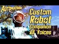 Fallout 4 Automatron DLC - Custom Robot Companion - All Voices and Dialogue Options