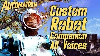 Fallout 4 Automatron DLC - Custom Robot Companion - All Voices and Dialogue Options