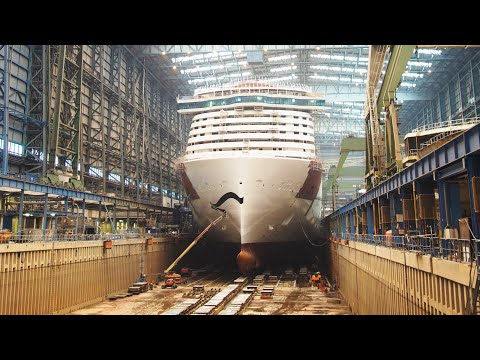 Cinematic Timelapse of LNG Powered AIDAnova Cruise Ship