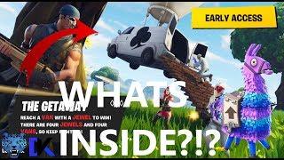 WHATS INSIDE THE GETAWAY VAN??? - Fortnite Battle Royale