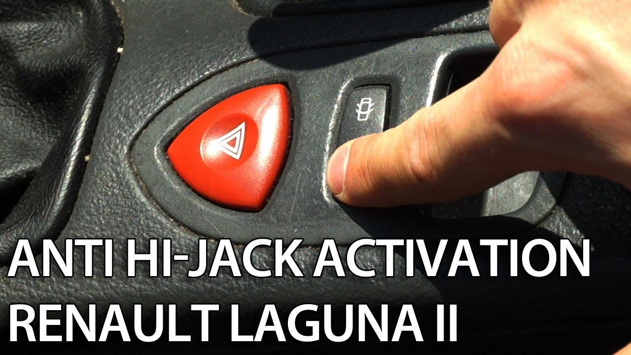 hight resolution of how to activate auto locking central lock in renault laguna ii enable anti hijack youtube