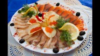 Рыбные нарезки на ПРАЗДНИЧНЫЙ  стол .