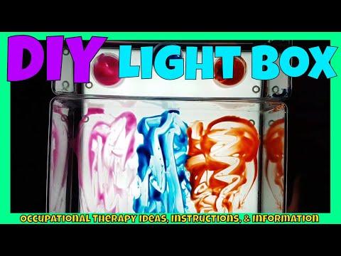 DIY sensory Light box | Part 2 of 3 | Kmart Hack | Make your own light box for $25