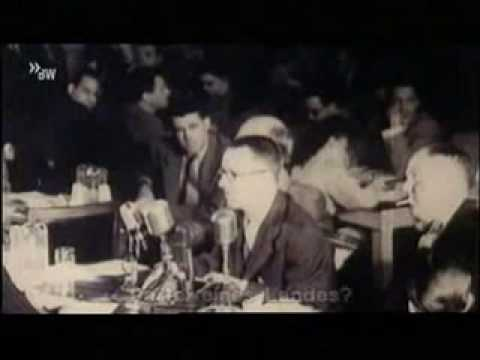 Bertolt Brecht speaks in the House Committee on Un-American