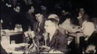 Bertolt Brecht speaks in the House Committee on Un-American Activities