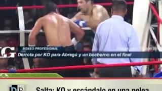 KO y escándalo en una pelea en Salta