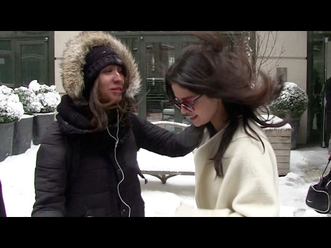 EXCLUSIVE - Selena Gomez under the New York City heavy snow