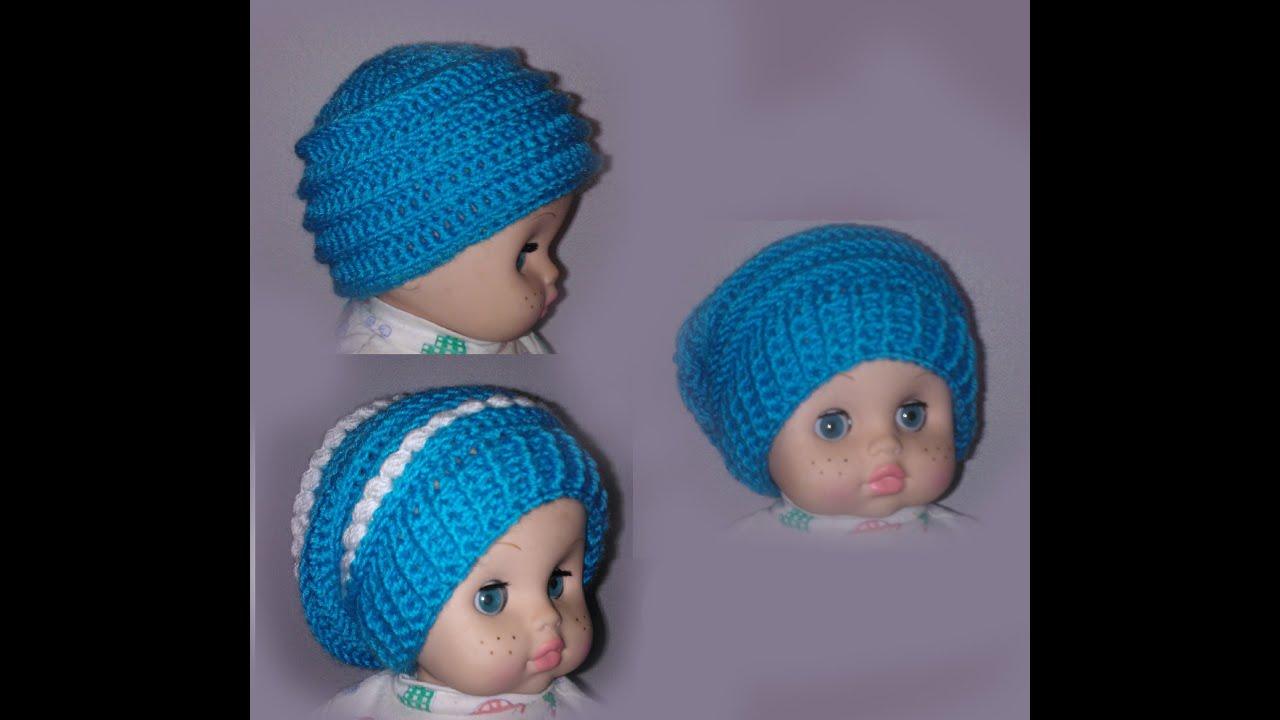 Шапка бини 3 в 1 Вязание крючком для начинающих Crochet Hats 3 in .