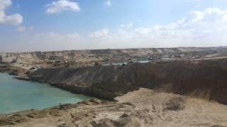 قناة السويس الجديدة: مشهد عام للحفر بمنطقة المنصة الرئيسية يناير 2015