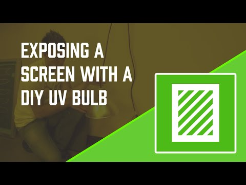 How to Expose a Screen with the DIY UV Exposure Bulb