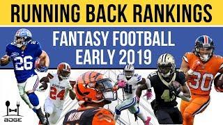 2019 Fantasy Football Running Back Rankings