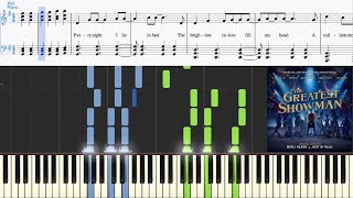 A Million Dreams (from The Greatest Showman Soundtrack) (Synthesia Piano Tutorial w/Lyrics)