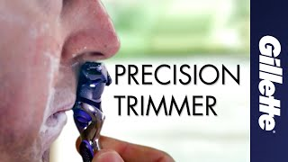 Shaving tricky areas of the face | Gillette Fusion Precision Trimmer