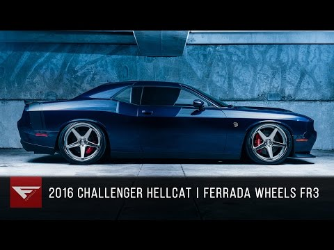 2016 Dodge Challenger Hellcat | Ferrada FR3 Machine Silver with Polished Lip
