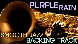 Purple Rain | Smooth Jazz Backing Track in Bb Major