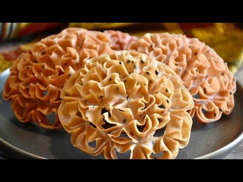 Kanom Dok Bua/ Kanom Dok Jok – Lotus Cookies – Lao/Thai Dessert