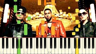 Aullando - Wisin & Yandel, Romeo Santos - Piano - Synthesia
