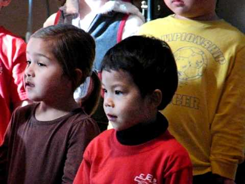 Caleb singing in Thanksgiving Chapel at Chandler Christian School