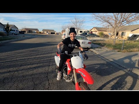His First Ride On New 2020 CRF150R He Rode It Better Than Me !