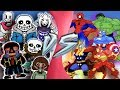 UNDERTALE vs AVENGERS TOTAL WAR! (Chara, Asriel Sans, Error!Sans vs Marvel) CARTOON FIGHT ANIMATION
