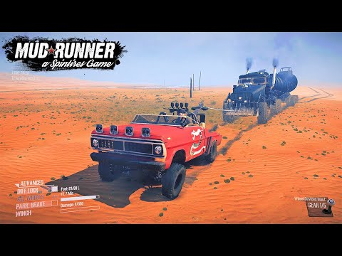 Spintires: MudRunner Mad Max Car and Truck | MadMax Game |