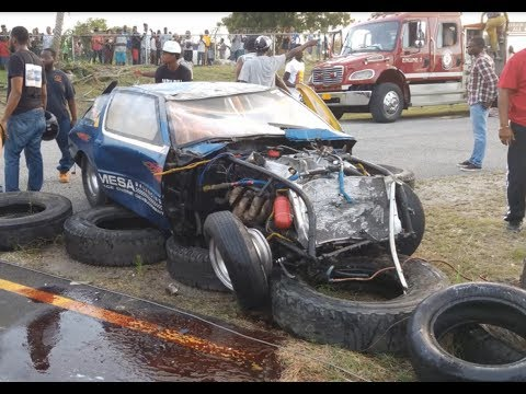 Fastest Antigua Supra vs Fastest V8 Doorslammer Crash