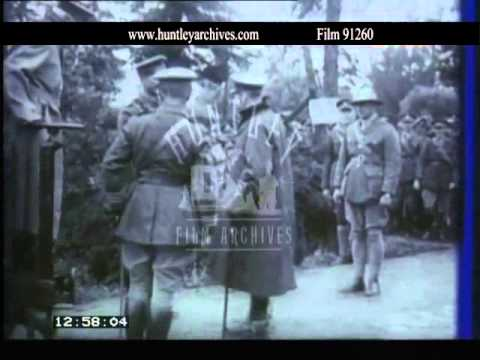 World War One narrow gauge railway.  Archive Film 91260