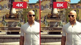 🔥 HITMAN - 4K vs 8K Comparison Ultra Graphic Benchmark