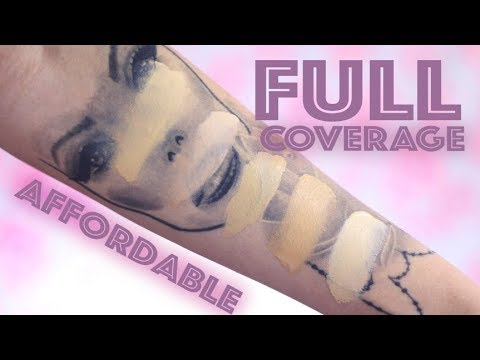 TOP 5 AFFORDABLE FULL COVERAGE FOUNDATIONS!