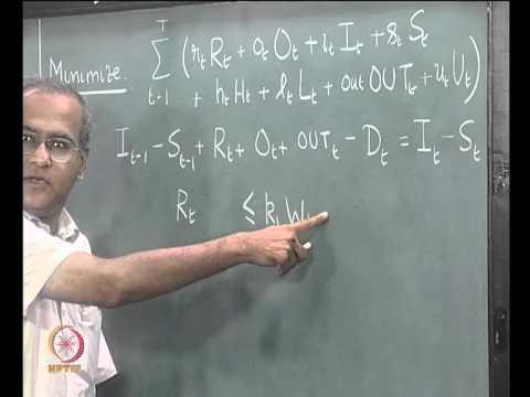 Mod-03 Lec-05 Aggregate Planning, Tabular Method, Linear Programming