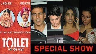 Toilet Ek Prem Katha Movie Special Screening | First Day First Show | Akshay Kumar, Bhumi Pednekar