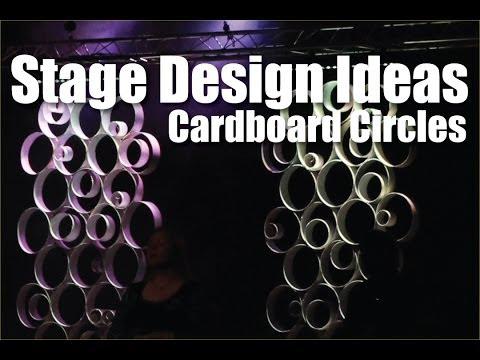 Church Stage Design Ideas : Cardboard Circles