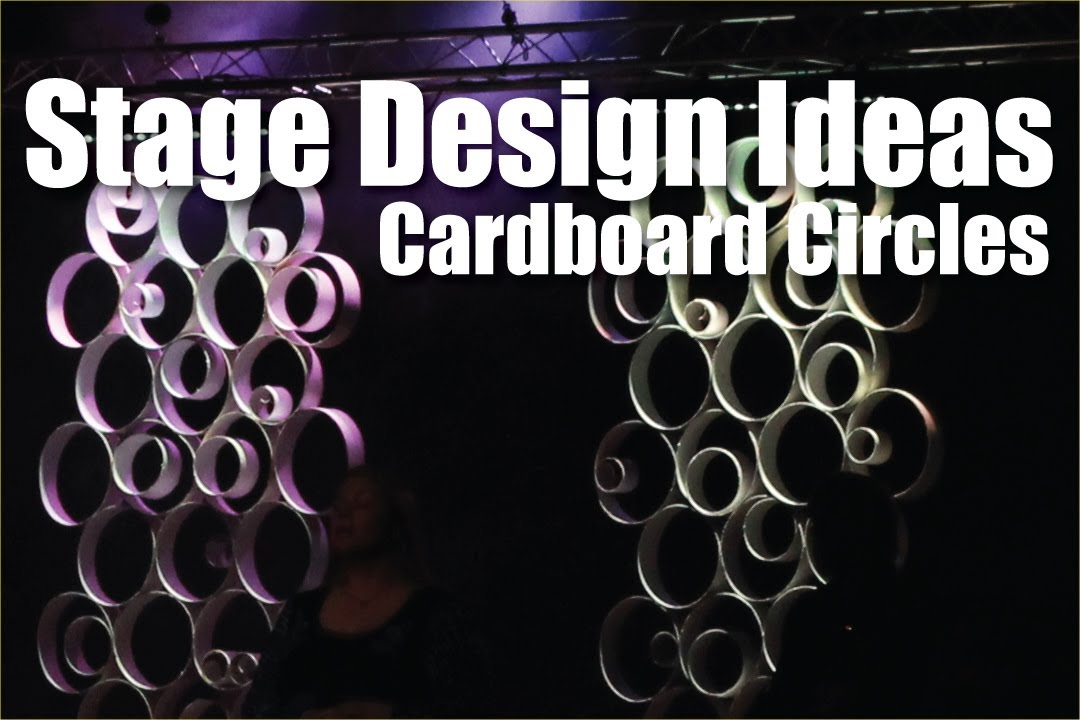 Church Stage Design Ideas : Cardboard Circles - YouTube