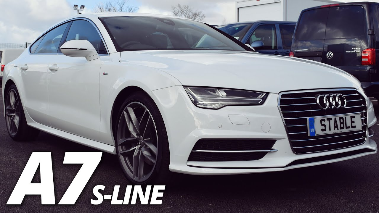 2016 audi a7 sportback s line walk around 3 0 tdi ultra 218ps ibis white youtube. Black Bedroom Furniture Sets. Home Design Ideas