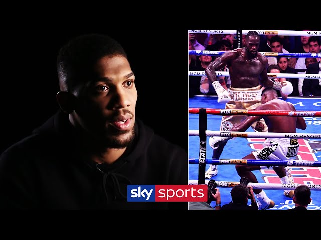 Anthony Joshua reacts to Deontay Wilder's last two knockouts! 🔥