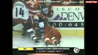 claude lemieux hits draper in the 96 playoffs