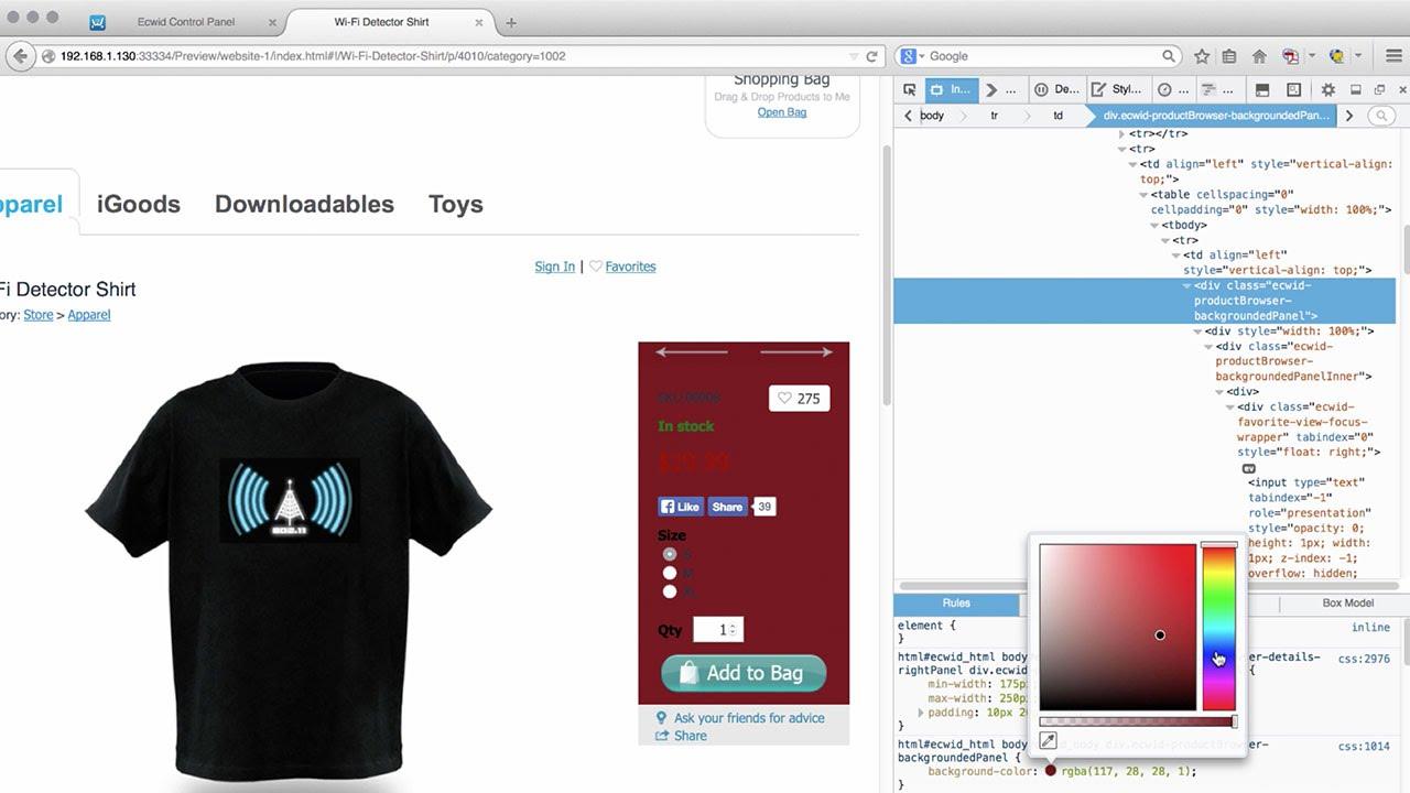Adobe Muse Ecwid Shopping Cart Ecommerce Widget | MuseThemes com