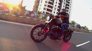 harley davidson iron 883 first ride review walkaround exhaust note 2017 with abs