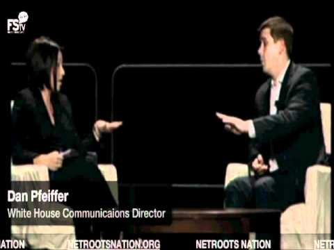 Netroots Nation asks White House Communications Director Dan Pfeiffer about fake questionnaire