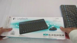 Logitech MK240 WIRELESS 2.4GHz COMBO kit Mini Keyboard Mouse Black USB receiver