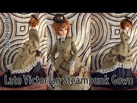 Late Victorian Steampunk Gown - With Voice Over & Subs