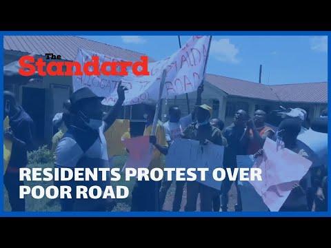 Angry residents protest over poor state of the Tapshiargoi-Kiptaldal-Kaptaga road, Kericho County